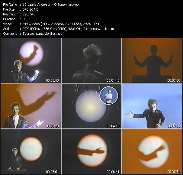 Laurie Anderson video screenshot
