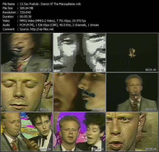 Sax Pustuls video screenshot