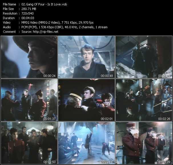 Gang Of Four video screenshot
