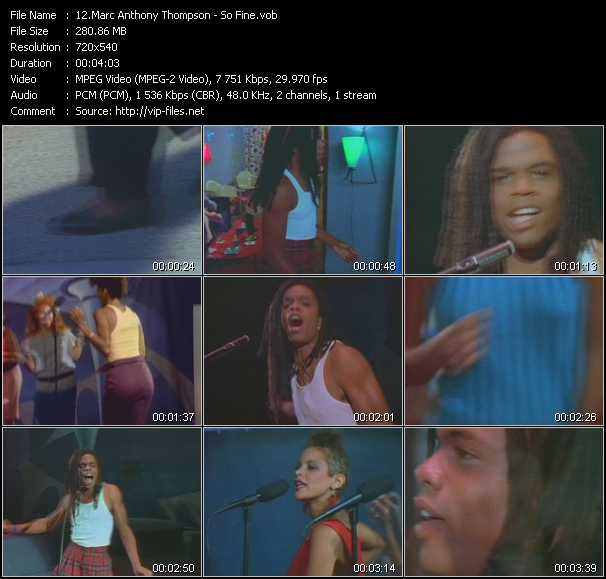 Marc Anthony Thompson video screenshot