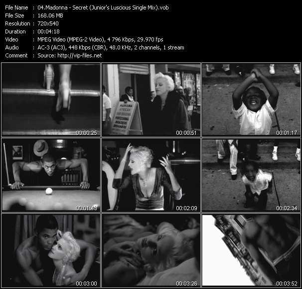 video Secret (Junior's Luscious Single Mix) screen