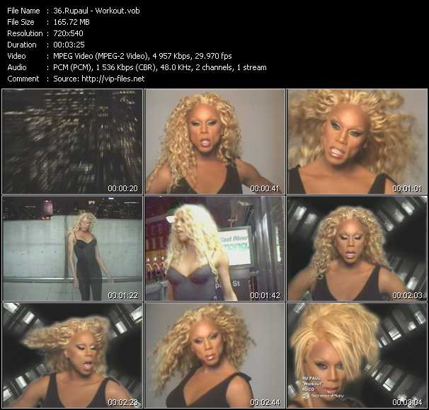 RuPaul video screenshot
