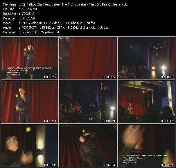 Fatboy Slim Feat. Lateef The Truth Speaker video screenshot