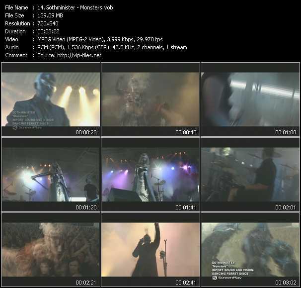 Gothminister video screenshot