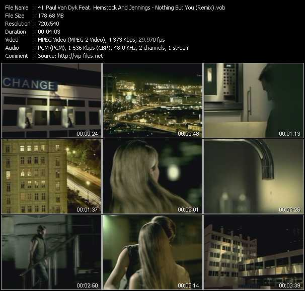 Paul Van Dyk Feat. Hemstock And Jennings video screenshot