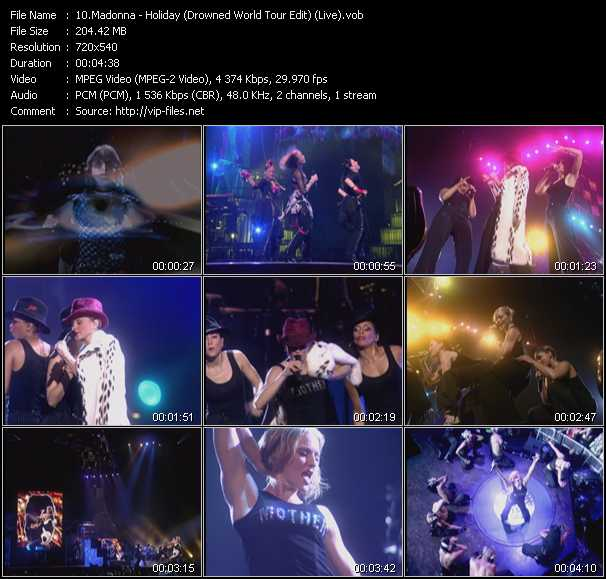 video Holiday (Drowned World Tour Edit) (Live) screen