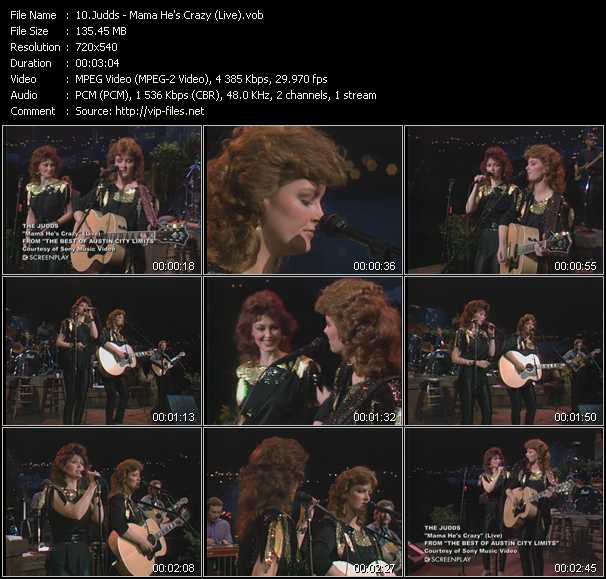 Judds video screenshot