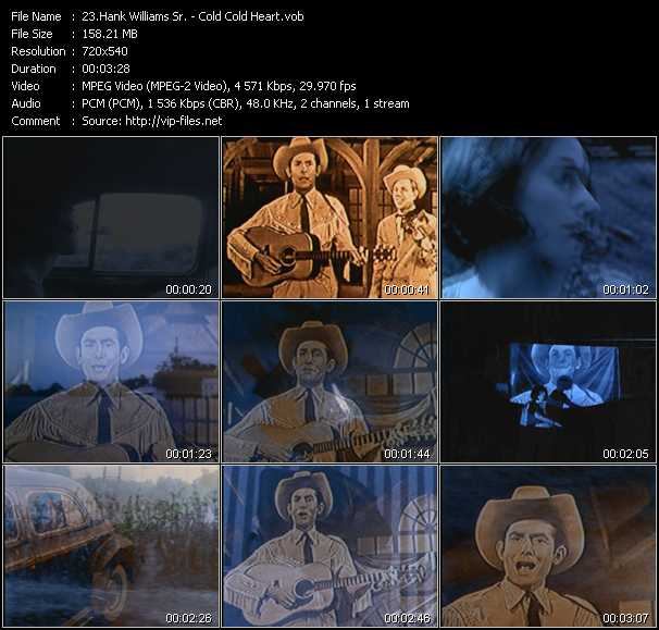 Hank Williams Sr. video screenshot