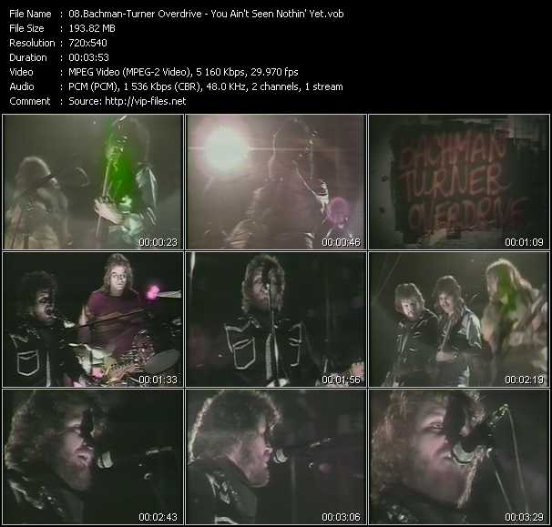 Bachman-Turner Overdrive video screenshot