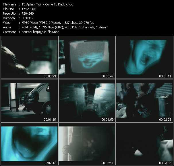 Aphex Twin video screenshot