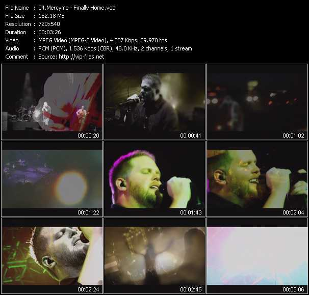 MercyMe video screenshot