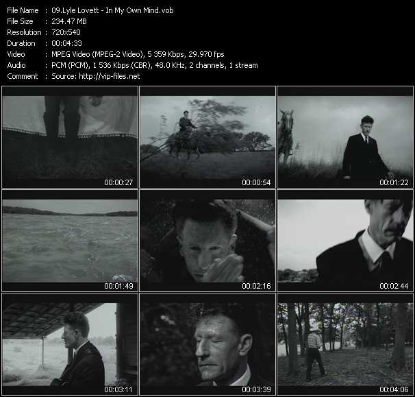 Lyle Lovett video screenshot