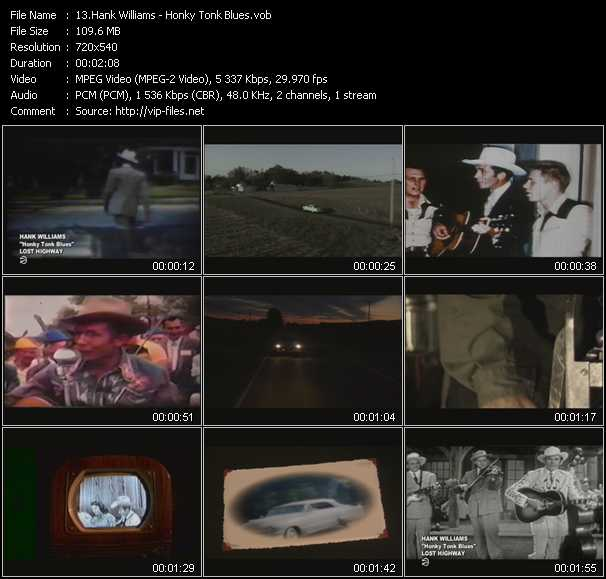 Hank Williams video screenshot