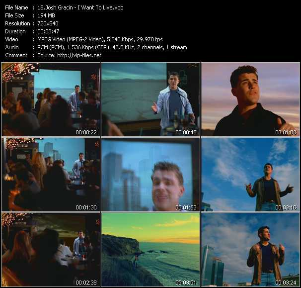 Josh Gracin video screenshot