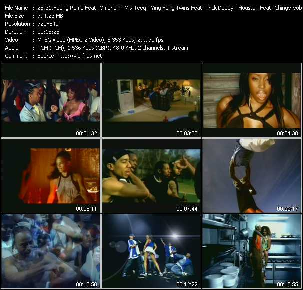 Young Rome Feat. Omarion And Marques Houston - Mis-Teeq - Ying Yang Twins Feat. Trick Daddy - Houston Feat. Chingy And Nate Dogg video screenshot
