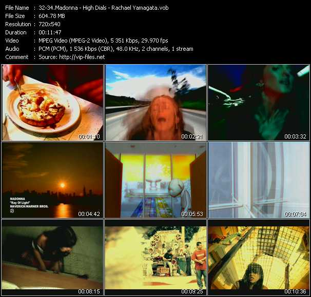 Madonna - High Dials - Rachael Yamagata video screenshot