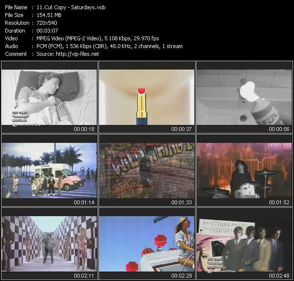 Cut Copy video screenshot
