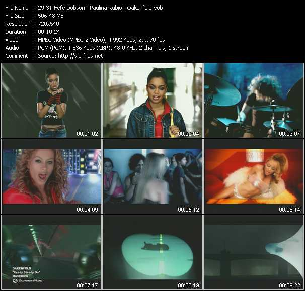 Fefe Dobson - Paulina Rubio - Oakenfold video screenshot