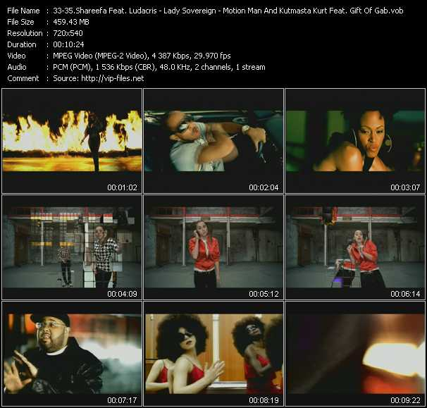 Shareefa Feat. Ludacris - Lady Sovereign - Motion Man And Kutmasta Kurt Feat. Gift Of Gab (Blackalicious) video screenshot