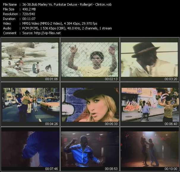 Bob Marley Vs. Funkstar Deluxe - Rollergirl - Clinton video screenshot