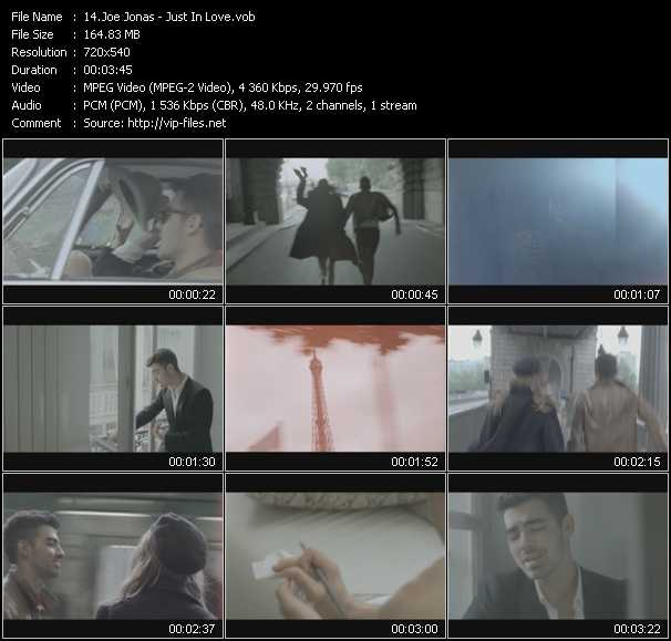 Joe Jonas video screenshot