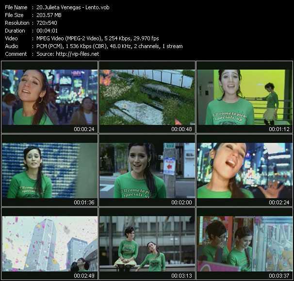 Julieta Venegas video screenshot
