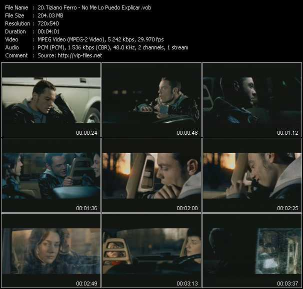Tiziano Ferro video screenshot