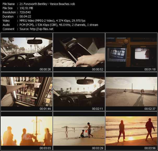 Fonzworth Bentley video screenshot