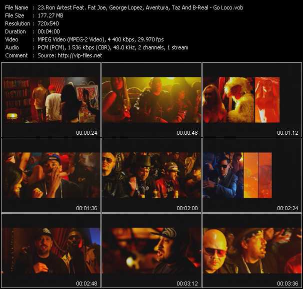 Ron Artest Feat. Fat Joe, George Lopez, Aventura, Taz And B-Real video screenshot