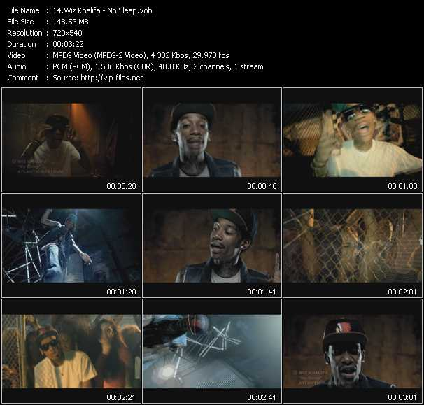 Wiz Khalifa video screenshot