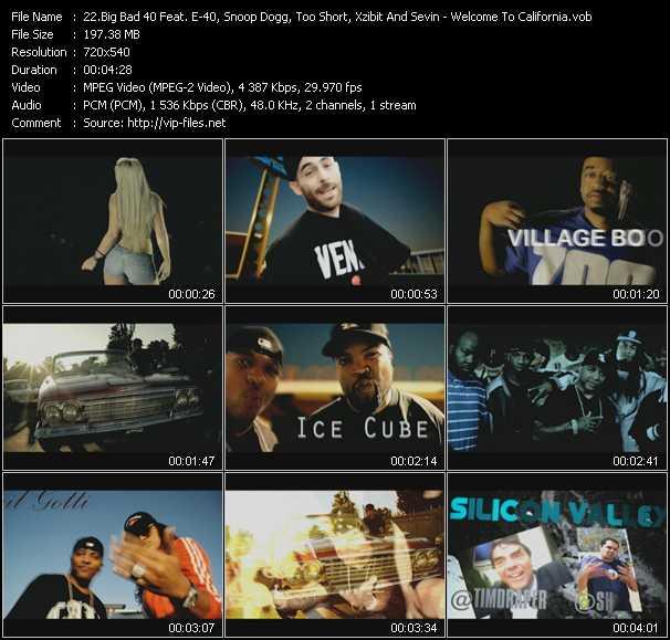 Big Bad 40 Feat. E-40, Snoop Dogg, Too Short, Xzibit And Sevin video screenshot