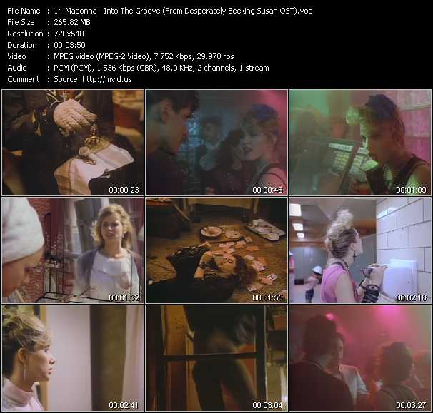 video Into The Groove (From Desperately Seeking Susan OST) screen