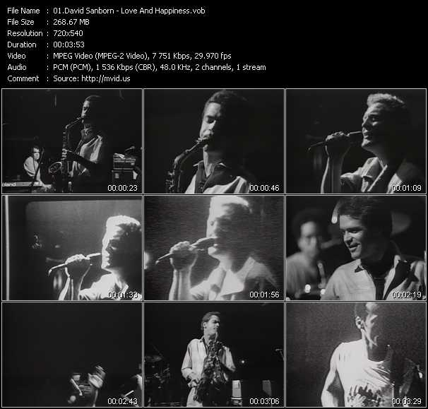 David Sanborn video screenshot