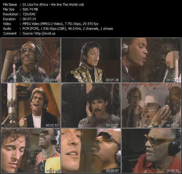 Usa For Africa video screenshot