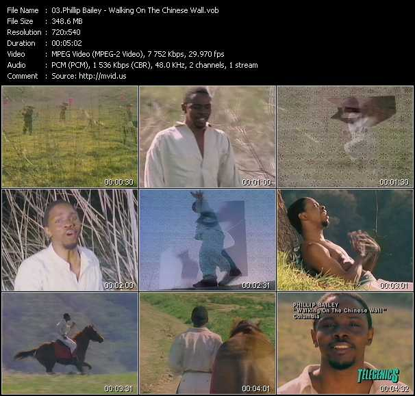 Phillip Bailey video screenshot