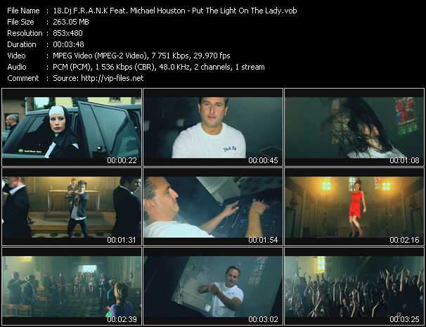 Dj F.R.A.N.K. Feat. Michael Houston video screenshot