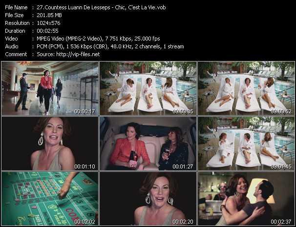 Countess Luann De Lesseps video screenshot