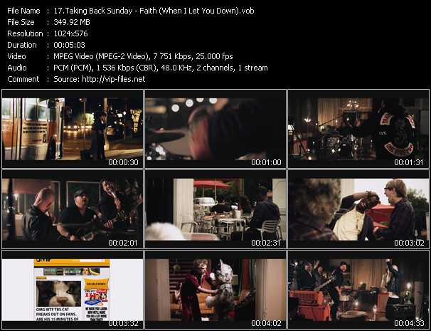 Taking Back Sunday video screenshot