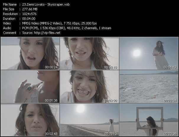 Demi Lovato video screenshot