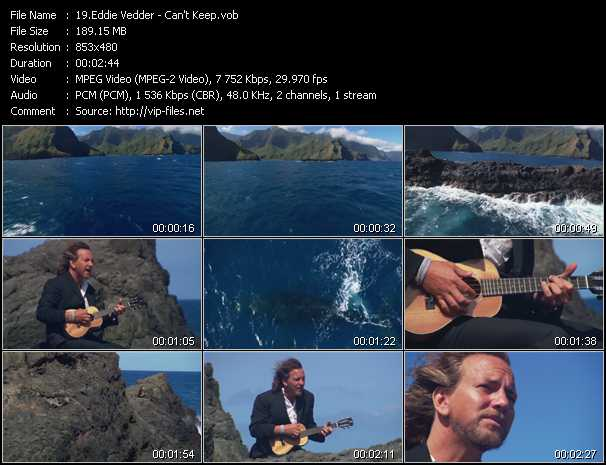 Eddie Vedder video screenshot