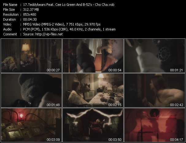 Teddybears Feat. Cee Lo Green And B-52's video screenshot