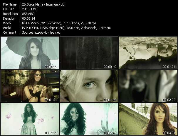 Dulce Maria video screenshot