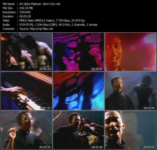 Sipho Mabuse video screenshot