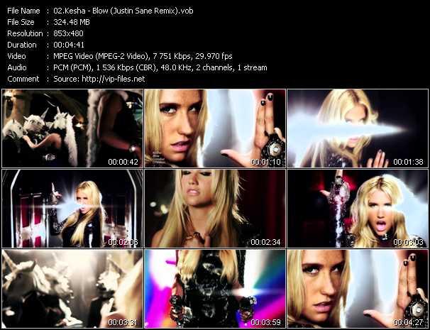 video Blow (Justin Sane Remix) screen