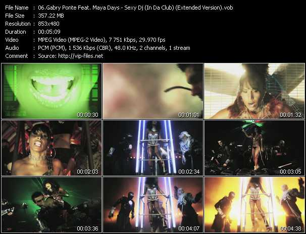 Gabry Ponte Feat. Maya Days video screenshot