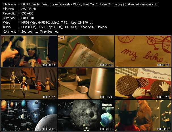 video World, Hold On (Children Of The Sky) (Extended Version) screen