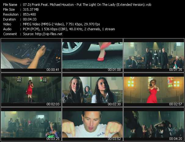 video Put The Light On The Lady (Extended Version) screen