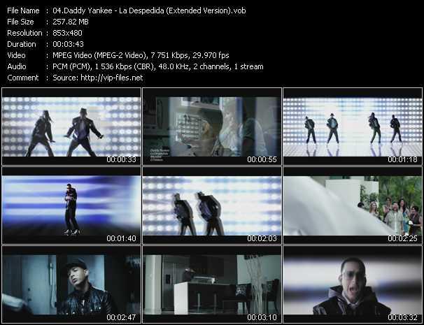 video La Despedida (Extended Version) screen