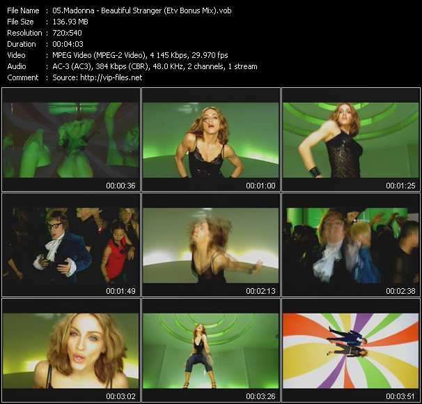 video Beautiful Stranger (ETV Bonus Mix) screen