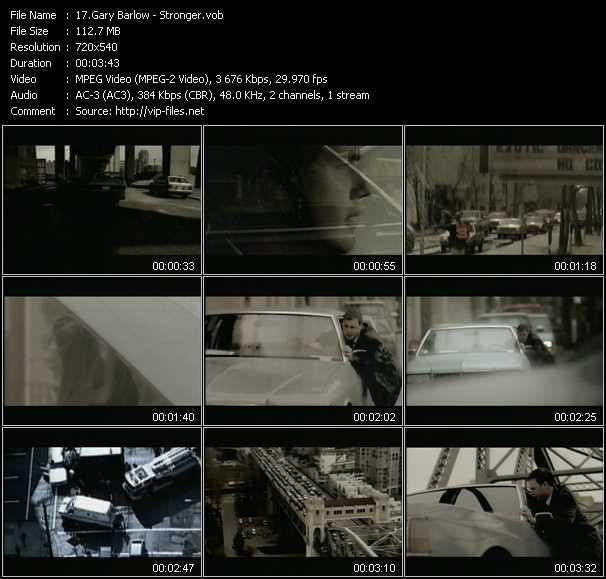 Gary Barlow video screenshot